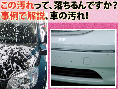 この汚れって、落ちるんですか? 事例で解説、車の汚れ!